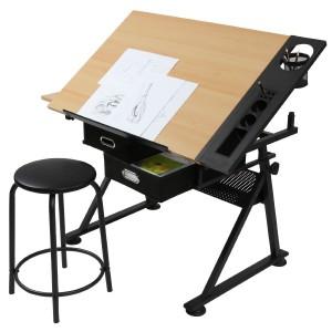 Schreibtisch mit Reißbrett-Funktion